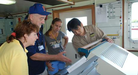 Ocean science researchers
