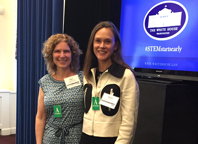 Ellen Blinderman at the White House's Early STEM Education Symposium