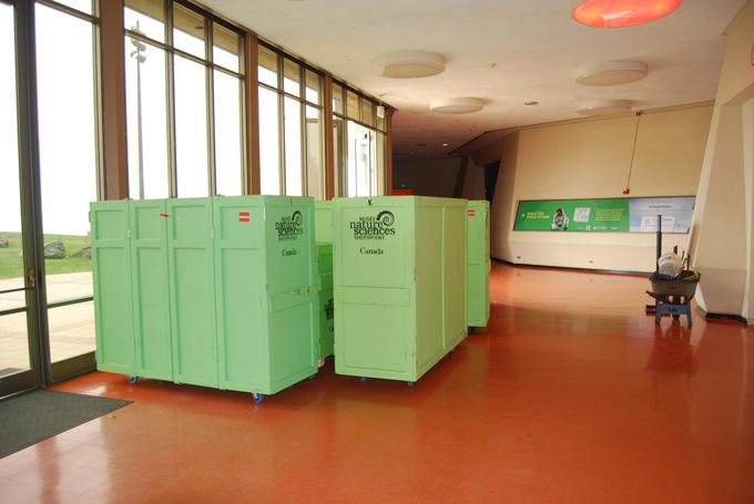 Super Cells exhibit shipping crates