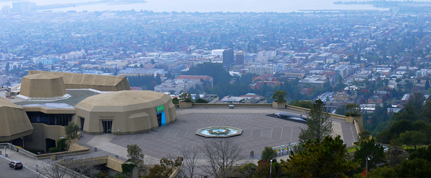 View of the The Lawrence and the city below