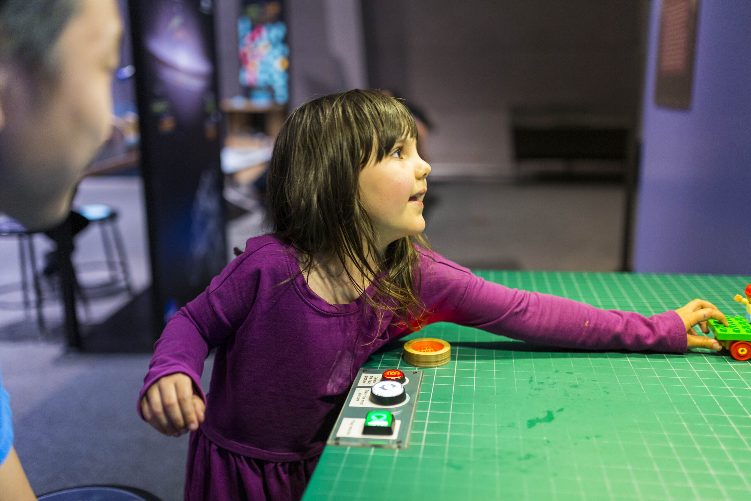A child creating a Stop-Motion Story